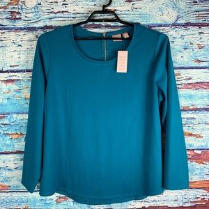 Chico's Long Sleeve Teal top